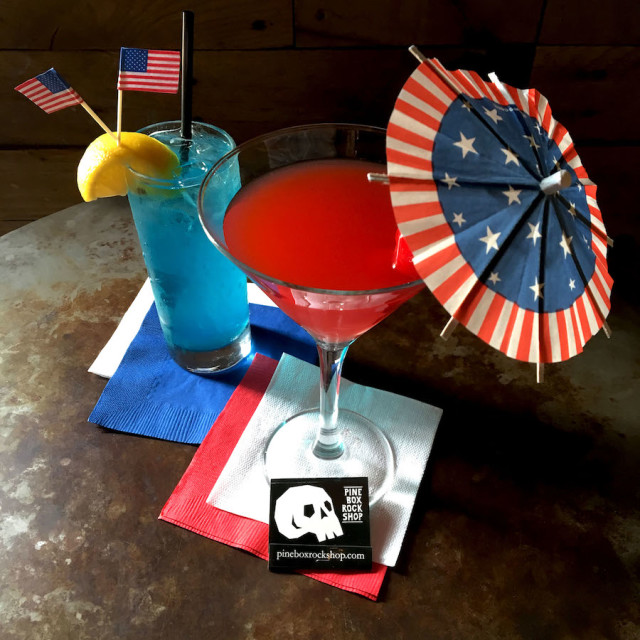 Pine Box Rock Shop is offering up special red and blue cocktails for the debates.