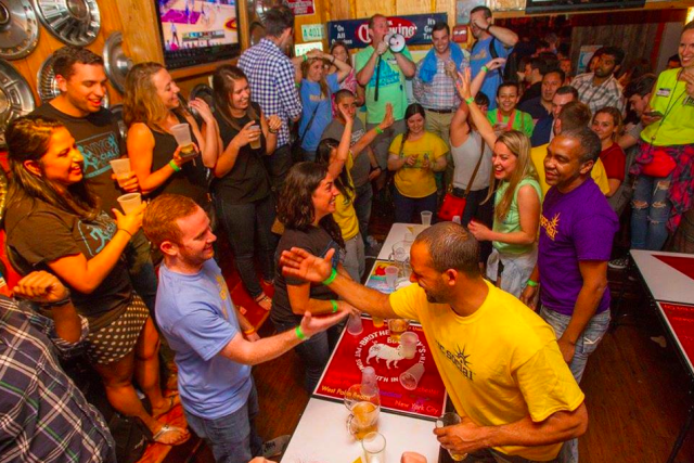 Who knows what you'll find over Flip Cup?