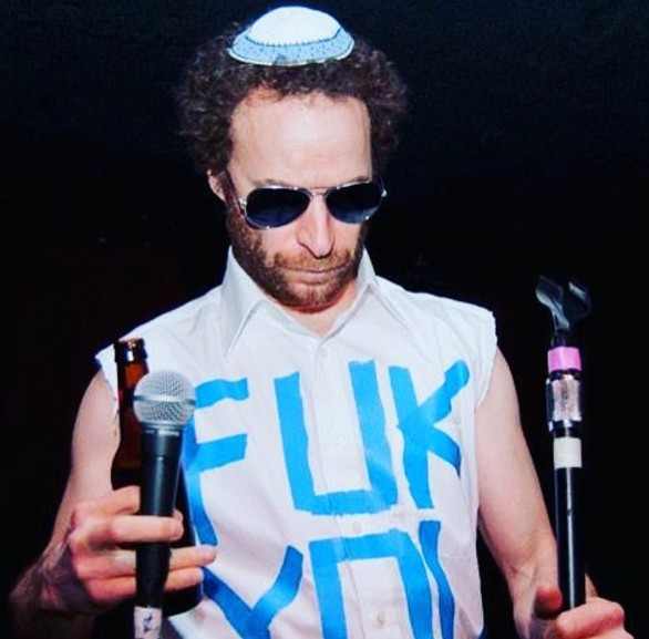 Jon Glaser's just making up for ancestors' lost years of Jewish identity. via IG @filthymonocle