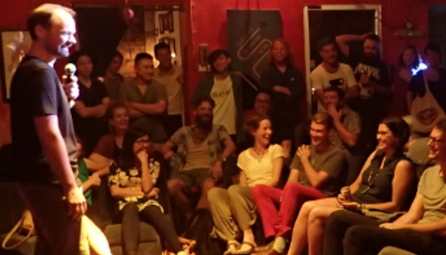'Homeless comedy' turns your living room into a comedy club
