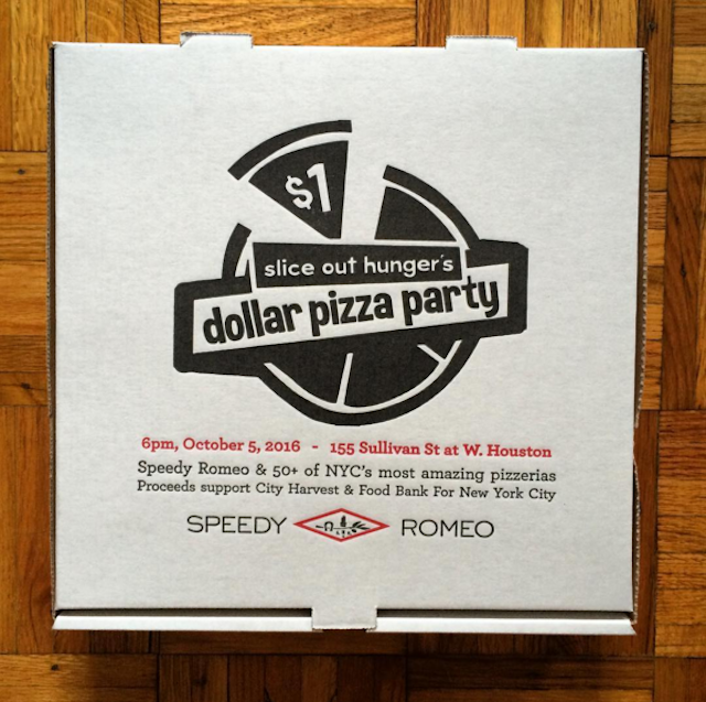 Speedy Romeo providing custom pizza boxes. via @sliceouthunger on IG