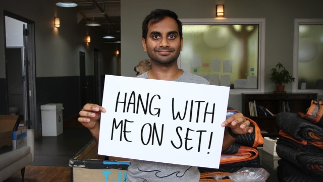 Here's your chance to hang with Aziz Ansari on the NYC set of 'Master of None'