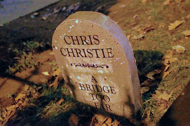 Just one of the punny tombstones that adorn 313's lawn every year. via Flickr user Francisco Daum