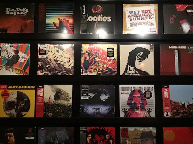 The record store at the House of Wax bar. Photo by Tim Donnelly/Brokelyn.