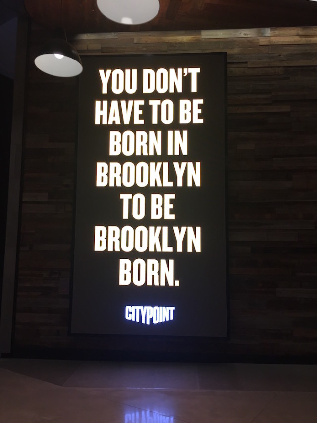 City Point's new slogan begs the question: What does it mean to be 'Brooklyn born?'