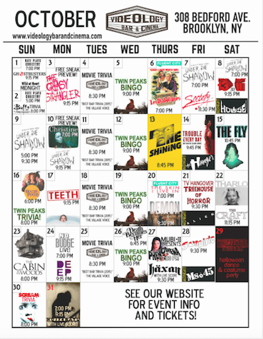 I love a good calendar via. Videology