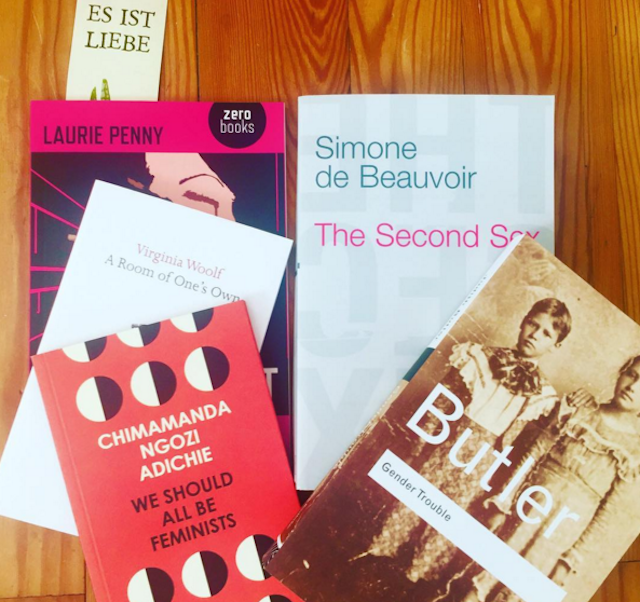 There's no shortage of non-satirical feminist literature out there. via IG user @lanamiere