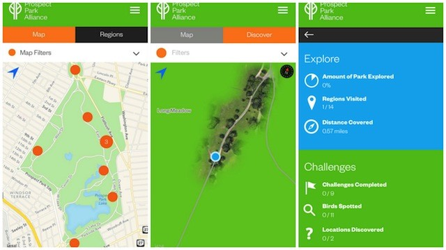 Prospect Park? Yeah, there's an app for that now too