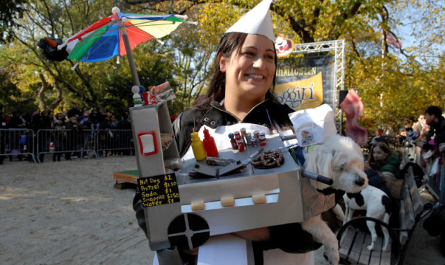 """These pup costumes will have you screaming """"hot dog!"""" Via Parks Department."""