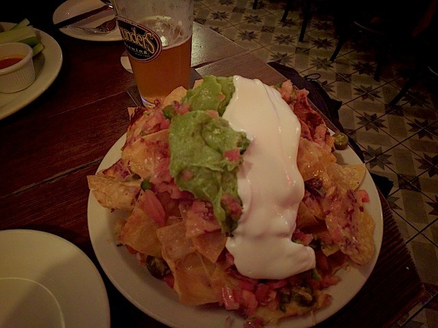 The nachos at BPH will satisfy the non meat-eaters, trust us. Erin Phillips / Brokelyn