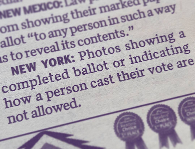 15 smart alternatives to taking a 'ballot selfie,' since that shit is illegal