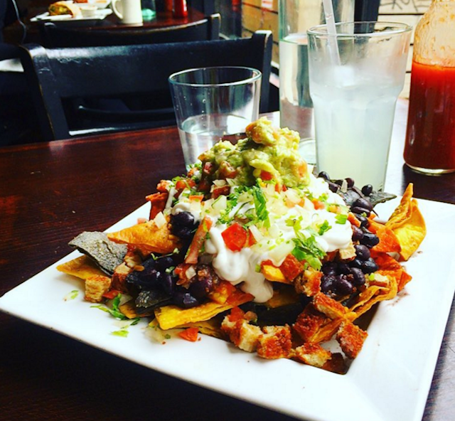 Any vegan nachos are baseline impressive, but these especially rock. via IG user @meettheshannons