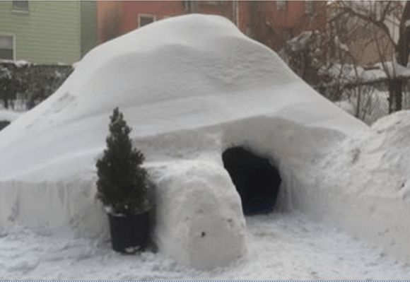 If you need us, we'll be hiding in this Greenpoint igloo for all of 2017.