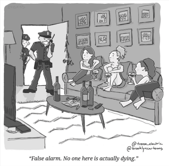We all literally died this year. Via @BrooklynCartoons, one of our favorites from this year.