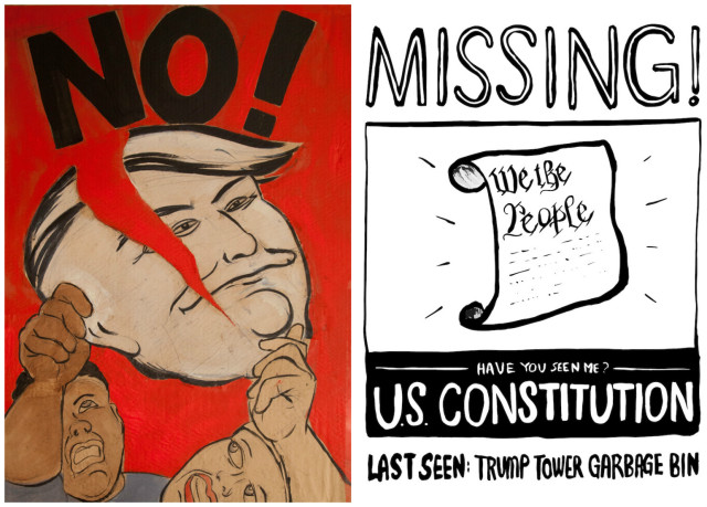 Brooklyn artists are giving away free anti-Trump designs for your protest needs