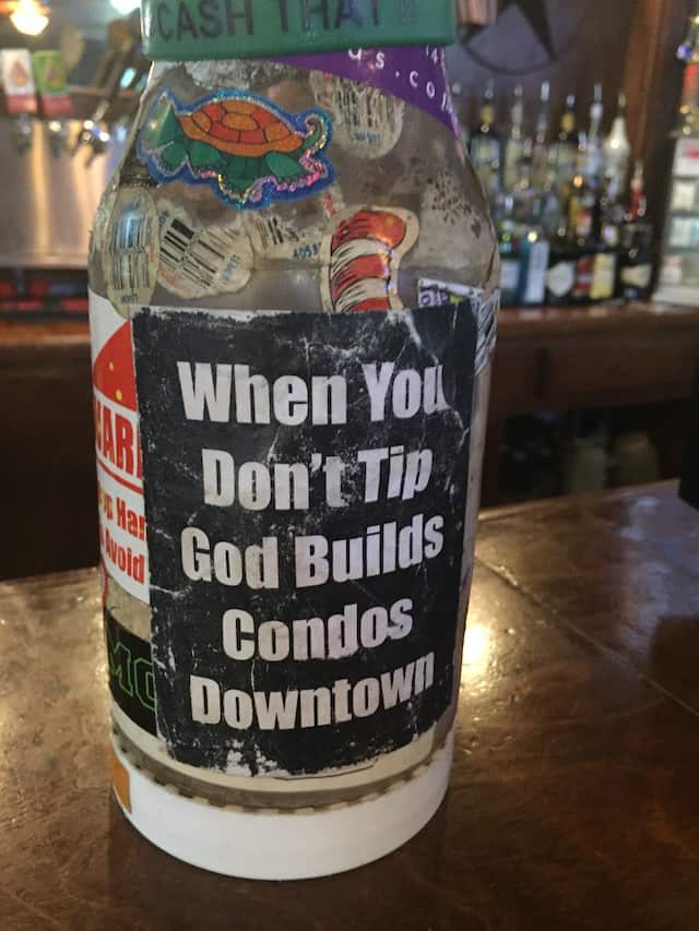 Spotted at a bar in Austin in May. Photo by Tim Donnelly/Brokelyn.