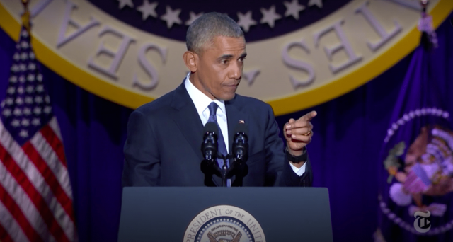 'Show up. Dive in.' Obama's farewell speech last night contained some key advice for brokesters