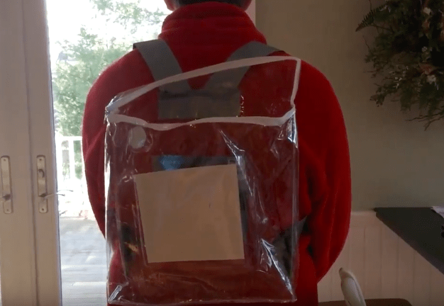 This video shows you how to make a clear bag for the D.C. Women's March (which you'll need)