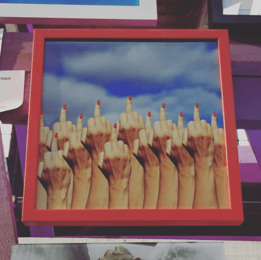 Art from the Nasty Women art show at the Knockdown Center last weekend, via @lindsaynyc on Instagram. Find more pics from the event here.