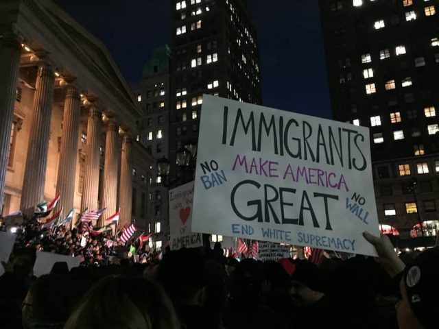 Thousands rallied as elected officials addressed the crowd.