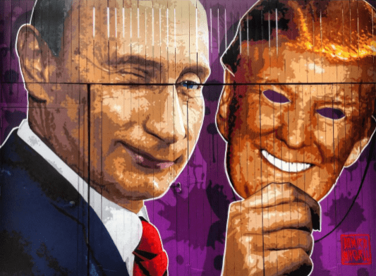 The Levee paints Trump as Putin in disguise in its new mural