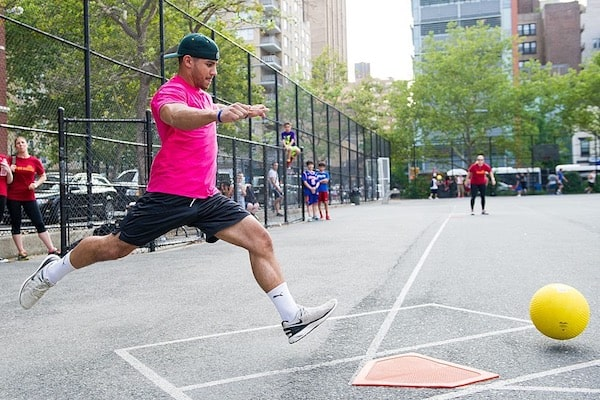 Kickball is one of several activities available with NYC Social.
