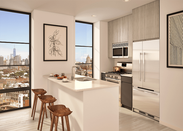 Who needs Manhattan when you can see it from the window of your luxury affordable unit?