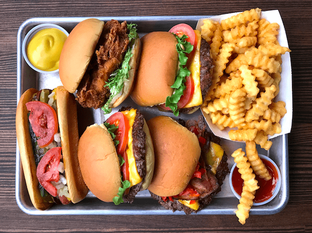 Free delivery of this to your doorstep is pretty damn appealing, but we're still holding out for the day when you can have clap on delivery via Floo Network. Photo via Shake Shack