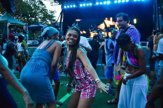 Mbongwana Star / Batida / Young Paris / Okayafrica Electrafrique featuring DJ Underdog in 2014. Photo courtesy of Jeanina Casusi