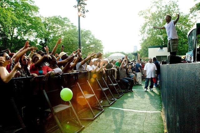 Q-Tip in a halcyon haze at SummerStage in 2009. Photo via SummerStage's Facebook