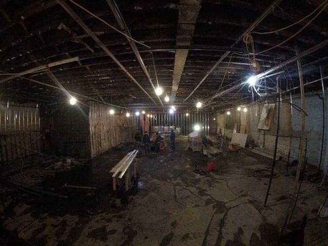 Construction is already underway at the new Littlefield venue. Photo via Kickstarter