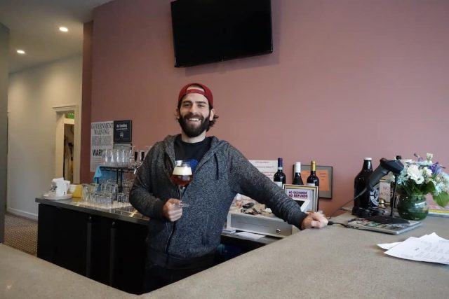 Beer Karma owner, Dan Lamonaca is happy to serve you.