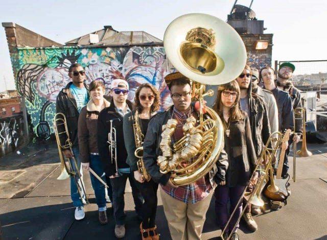 Get down to brass tacks with Pitchblak Brass Band (#). Photo via Facebook