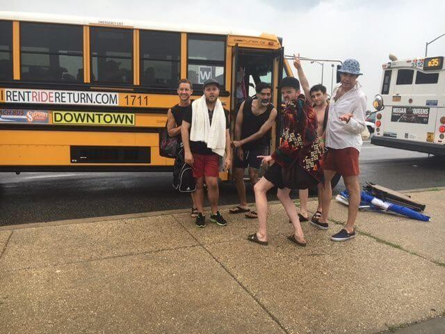 Photo via NYC Beach Bus / Facebook
