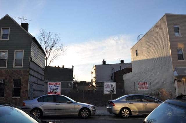 This empty W'burg lot is now apartments and you can apply to rent one for $958/month