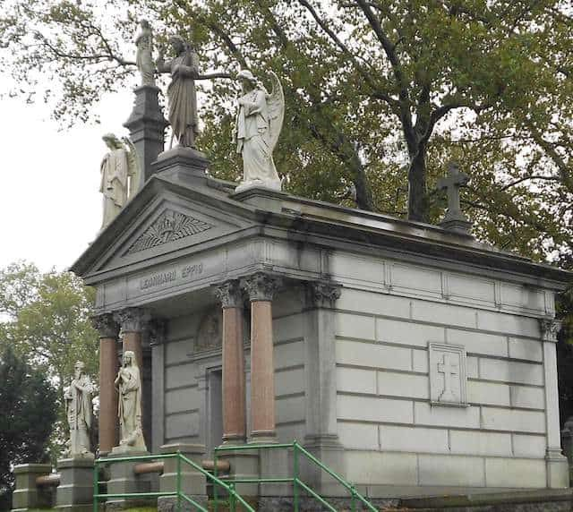 The tomb of Leonhard Eppig at St. John Cemetery in Middle Village. Photo by Alexandra Mosca
