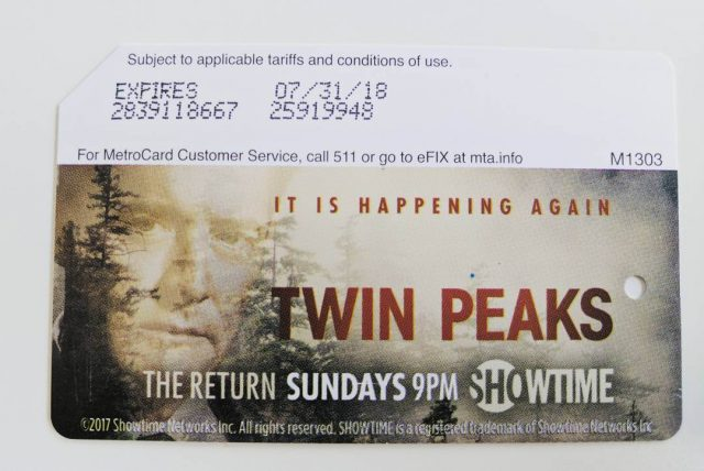 Twin Peaks MetroCards now available at a subway station near you