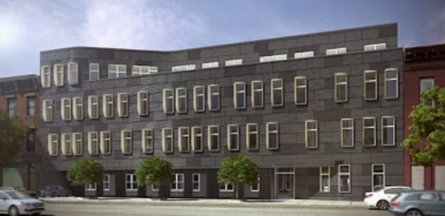 A rendering of the building's outside. Photo via NY Developers.net