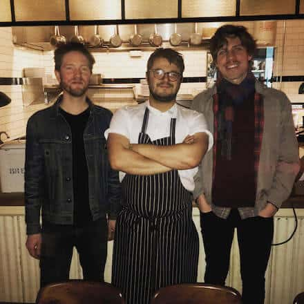 Garrett Smith and Julian Colcott  - they're two of the three co-owners at Cherry Point in Greenpoint (Patrick McAndrew, Why Food? Host on right)