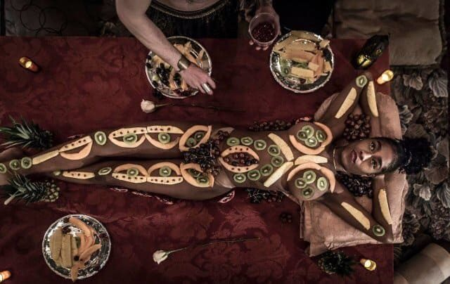 Eat a multi-course meal off naked people in Bushwick next weekend