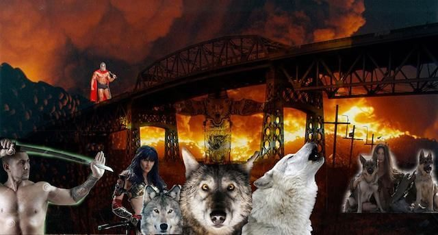 'True Kosciuszko Bridge' supporters to defend it from demolition with 'wolves & swords'