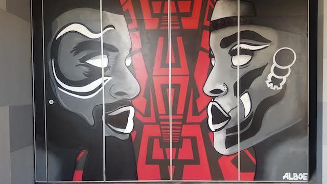Ashley-Simone McKenzie's new mural at Littlefield