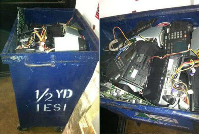 Craigslist freebie: A literal dumpster full of Telecom electronics
