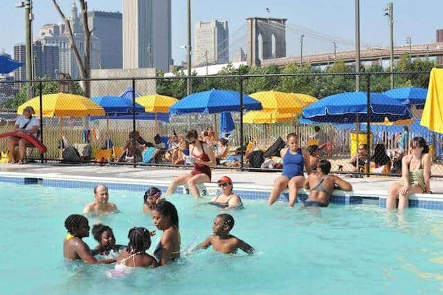 Brooklyn Bridge Park's free pop-up pool will open for the season tomorrow