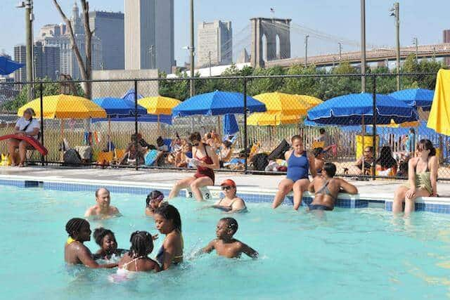 The Brooklyn Bridge Park Pop Up Pool Opens Today