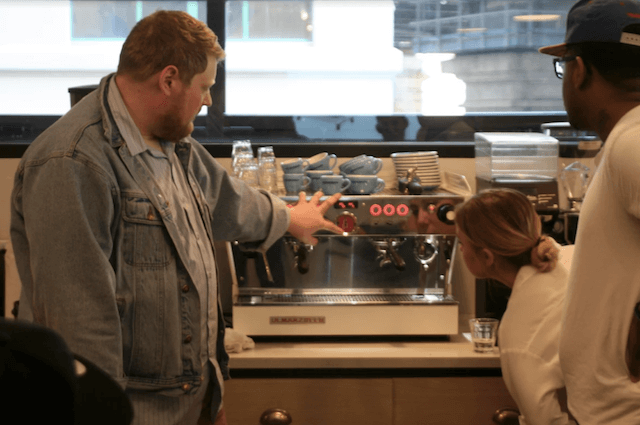 Photo by Tim Hone at the barista training class