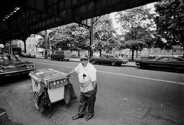 Bruno, the Ice Cream Man in 1976 under New Utrecht & 57th St. It's the end of the little things that define an era and provoke thoughts of nostalgia. Can you remember the jingle-jangle of the bells on a hot summer night? I feel like a kid again with 35c to blow