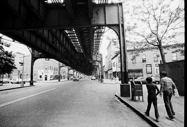 My brother John and Marty walking up new Utrecht Avenue in Boro Park, Brooklyn NYC in 1975
