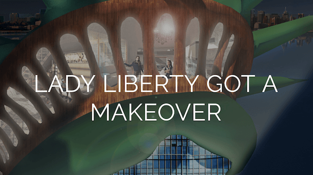 This Statue of Liberty luxury condo promotional site is far too convincing