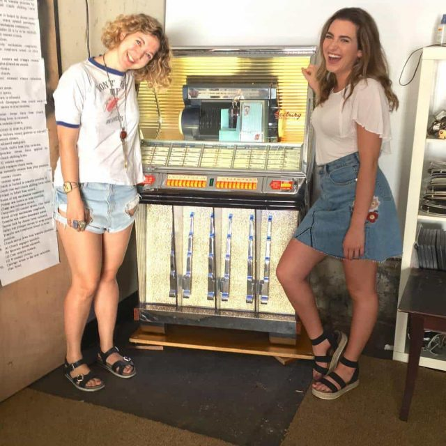 Prospect Heights' has a free outdoor jukebox, courtesy one retro lovin' repairman